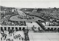 Adolf Hitler Arriving at Olympic Stadium at Beginning of Olympic Games, Berlin, Germany, August 2, 1...