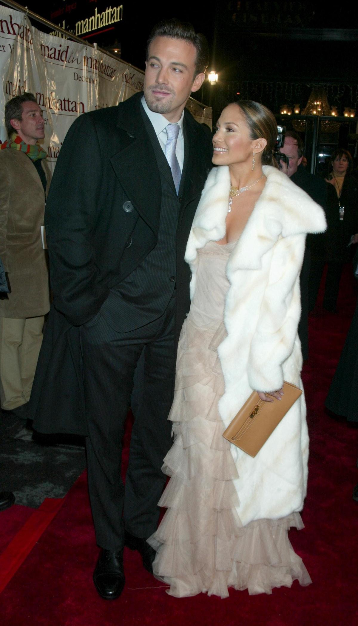 Ben Affleck & Jennifer Lopez during Maid in Manhattan Premiere - Arrivals at The Ziegfeld Theatre in...