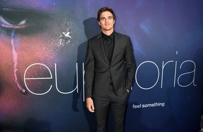 "Jacob Elordi poses at HBO's ""Euphoria"" premiere."