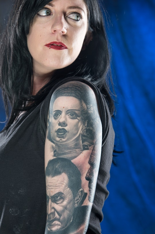 Classic Hollywood monsters make great subjects for Halloween inspired tattoos.