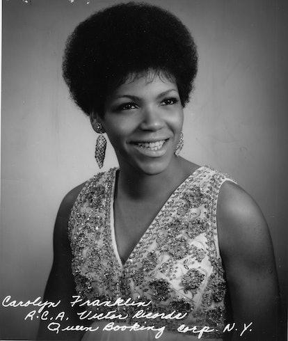 Carolyn Franklin, portrait, studio, USA, 1969. (Photo by Gilles Petard/Redferns)
