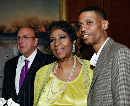 Record producer/ music industry executive Clive Davis, singer Aretha Franklin and Kecalf Cunningham ...