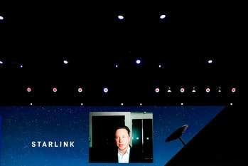 Elon Musk, the Chief Engineer of SpaceX, speaking about the Starlink project at MWC hybrid Keynote d...