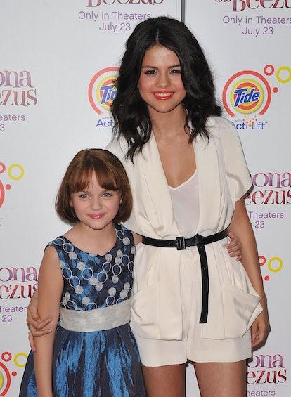 """Ramona and Beezus"" co-stars Joey King and Selena Gomez pose together."