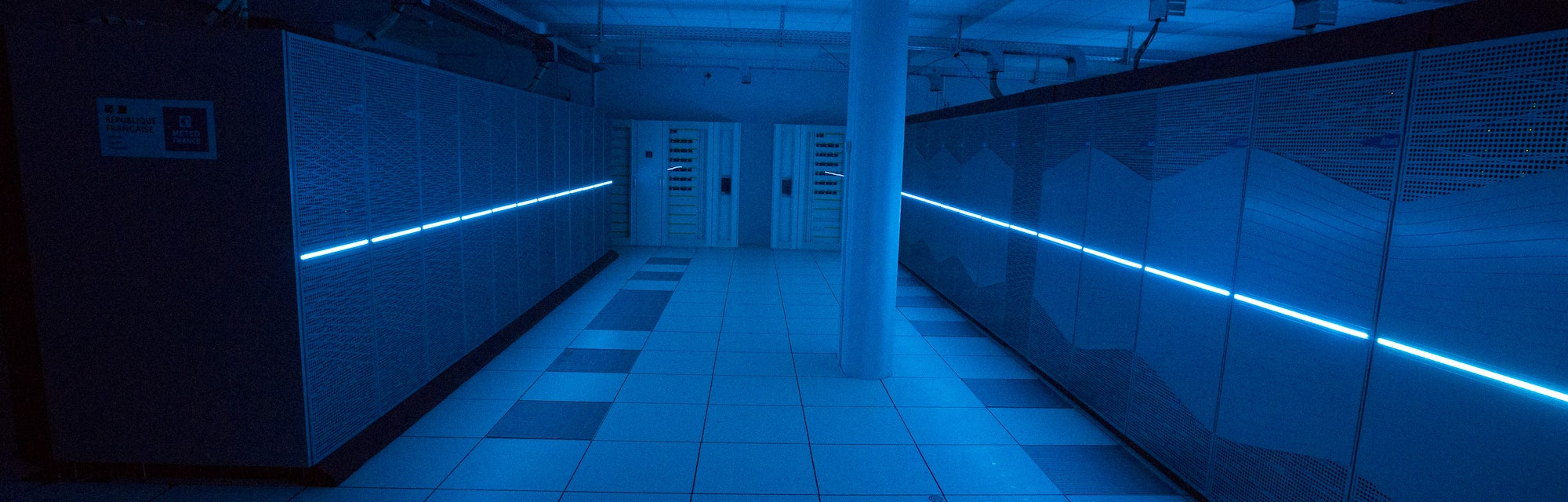 The new supercomputer of Meteo France,  the French national meteorological service is seen at Meteo ...