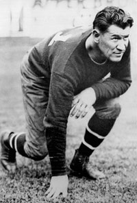 Hall of Fame football player and all around athlete, Jim Thorpe, 1925. He was of Native American des...