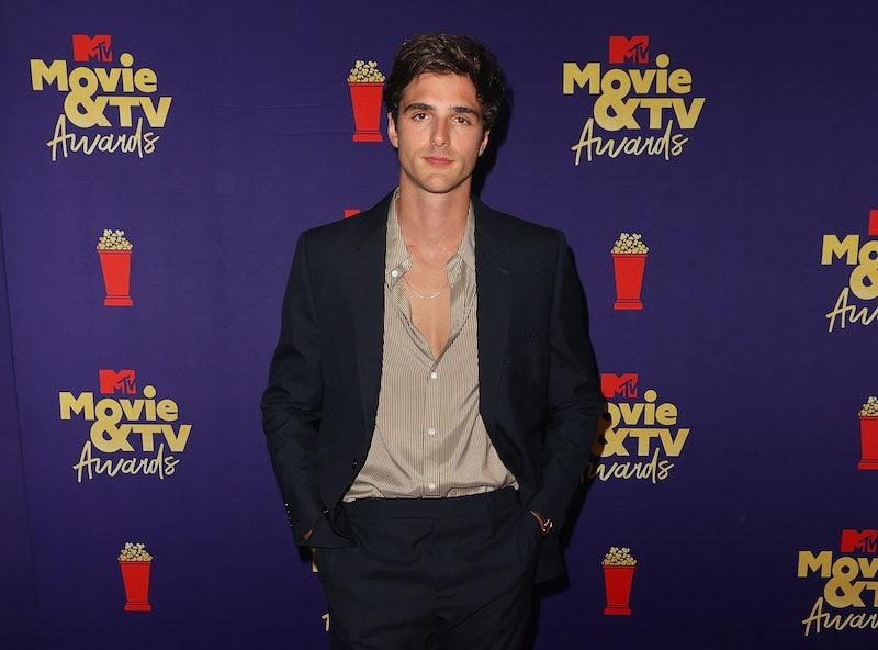 Jacob Elordi poses at the 2021 MTV Movie & TV Awards.