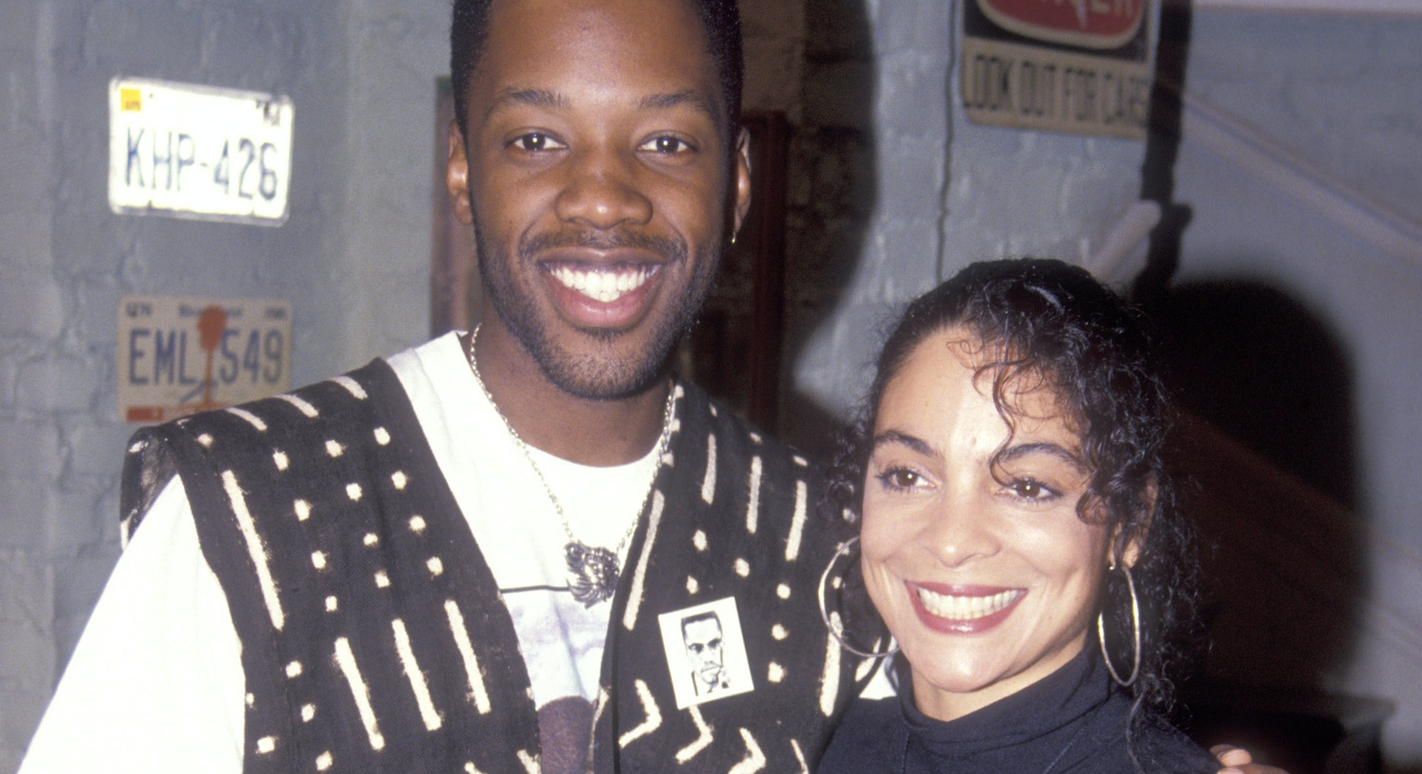 Jasmine Guy and actor Kadeem Hardison, co-stars of A Different World television show.
