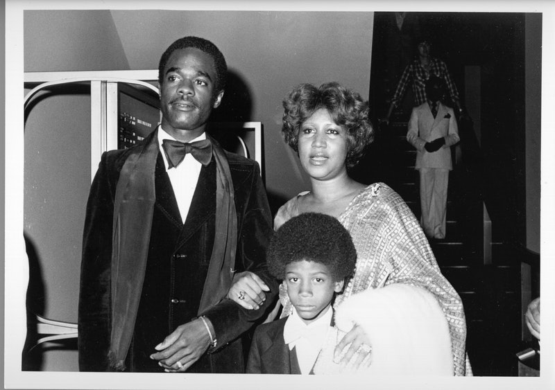 CIRCA 1979:  Soul singer Aretha Franklin attends an event with her husband actor Glynn Turman and he...