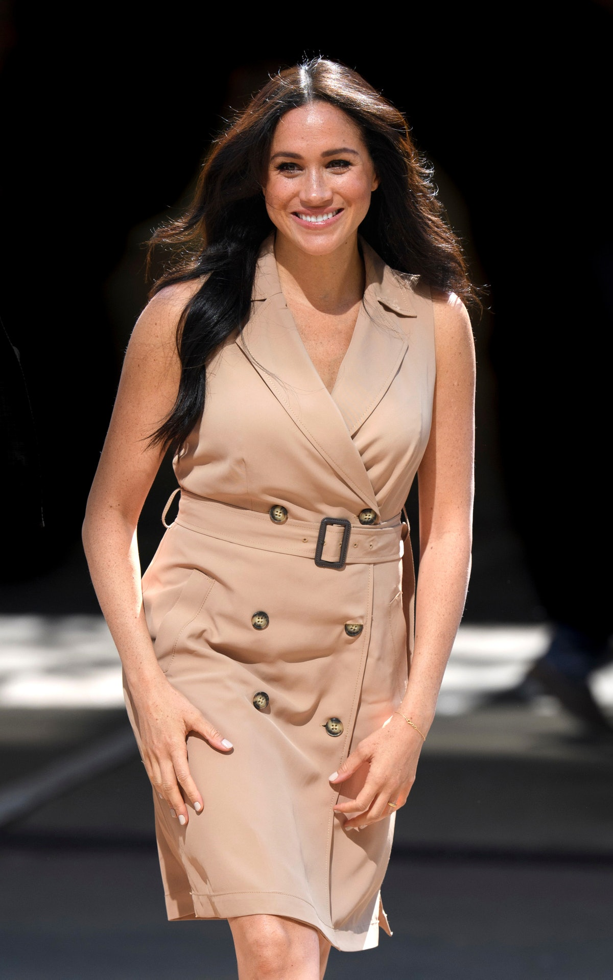 JOHANNESBURG, SOUTH AFRICA - OCTOBER 01:  (UK OUT FOR 28 DAYS)  Meghan, Duchess of Sussex visits the...