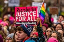 WASHINGTON SQUARE, NEW YORK, NY, UNITED STATES - 2017/02/11: Thousands of New Yorkers rally at Washi...
