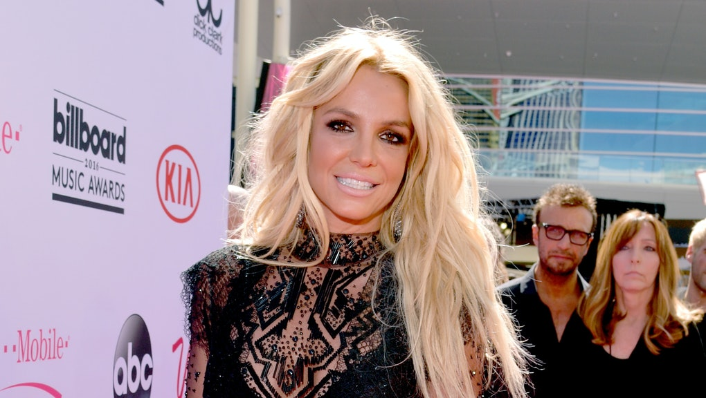 LAS VEGAS, NV - MAY 22:  Singer Britney Spears attends the 2016 Billboard Music Awards at T-Mobile A...