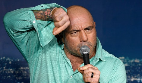 PASADENA, CA - MARCH 15:  Comedian Joe Rogan performs during his appearance at The Ice House Comedy ...