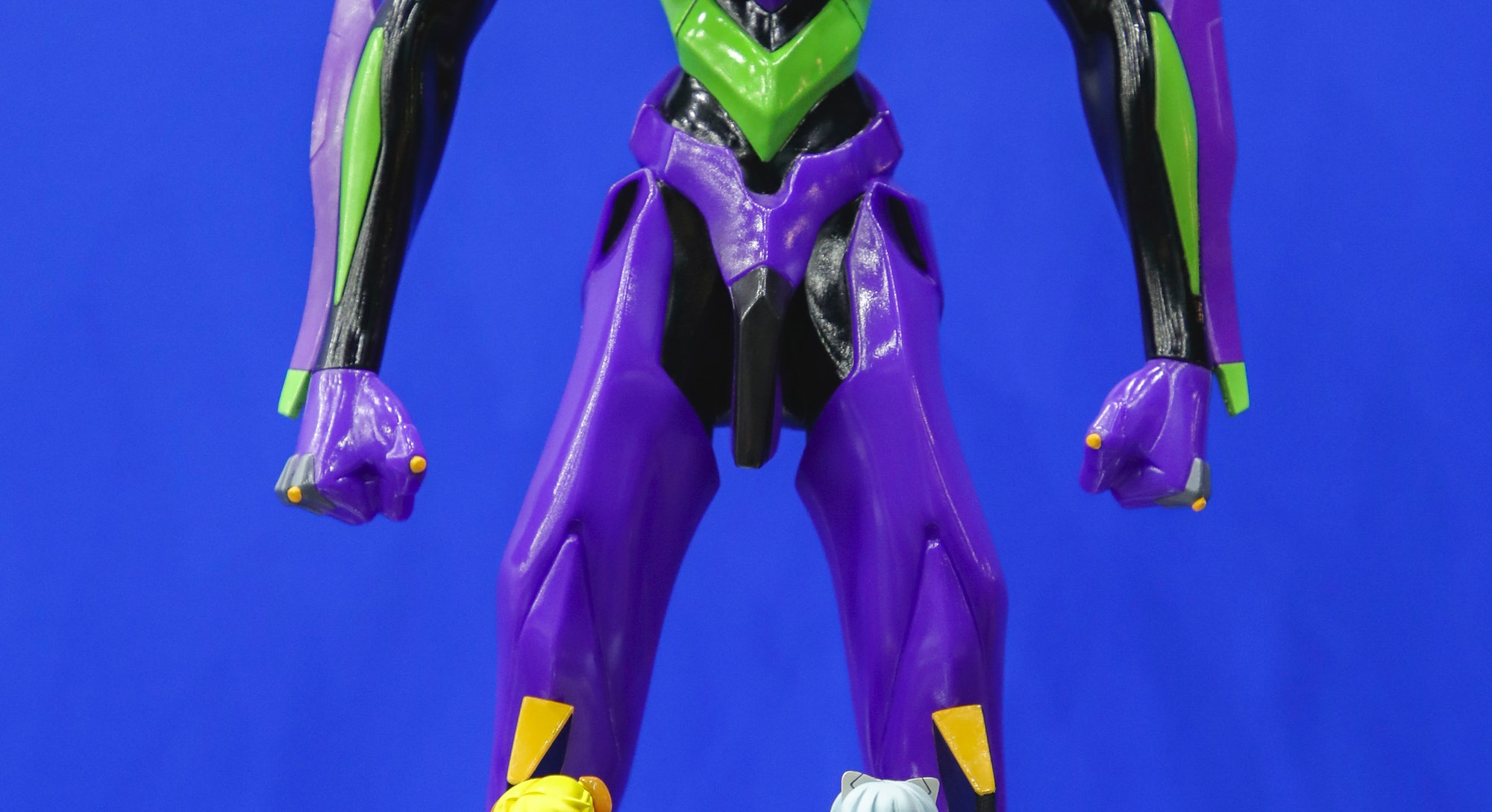 Characters from animation Evangelion on display on first day of TOYSOUL 2017 at the International Tr...