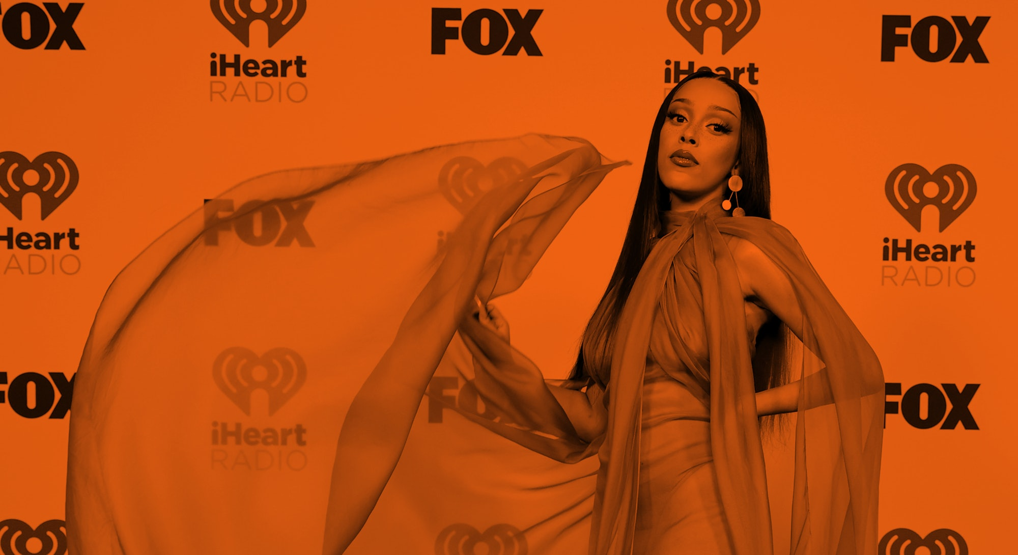 LOS ANGELES, CALIFORNIA - MAY 27: (EDITORIAL USE ONLY) Doja Cat attends the 2021 iHeartRadio Music A...