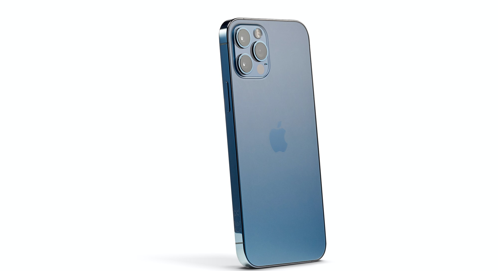An Apple iPhone 12 Pro with a Pacific Blue finish, taken on October 28, 2020.(Photo by Phil Barker/F...