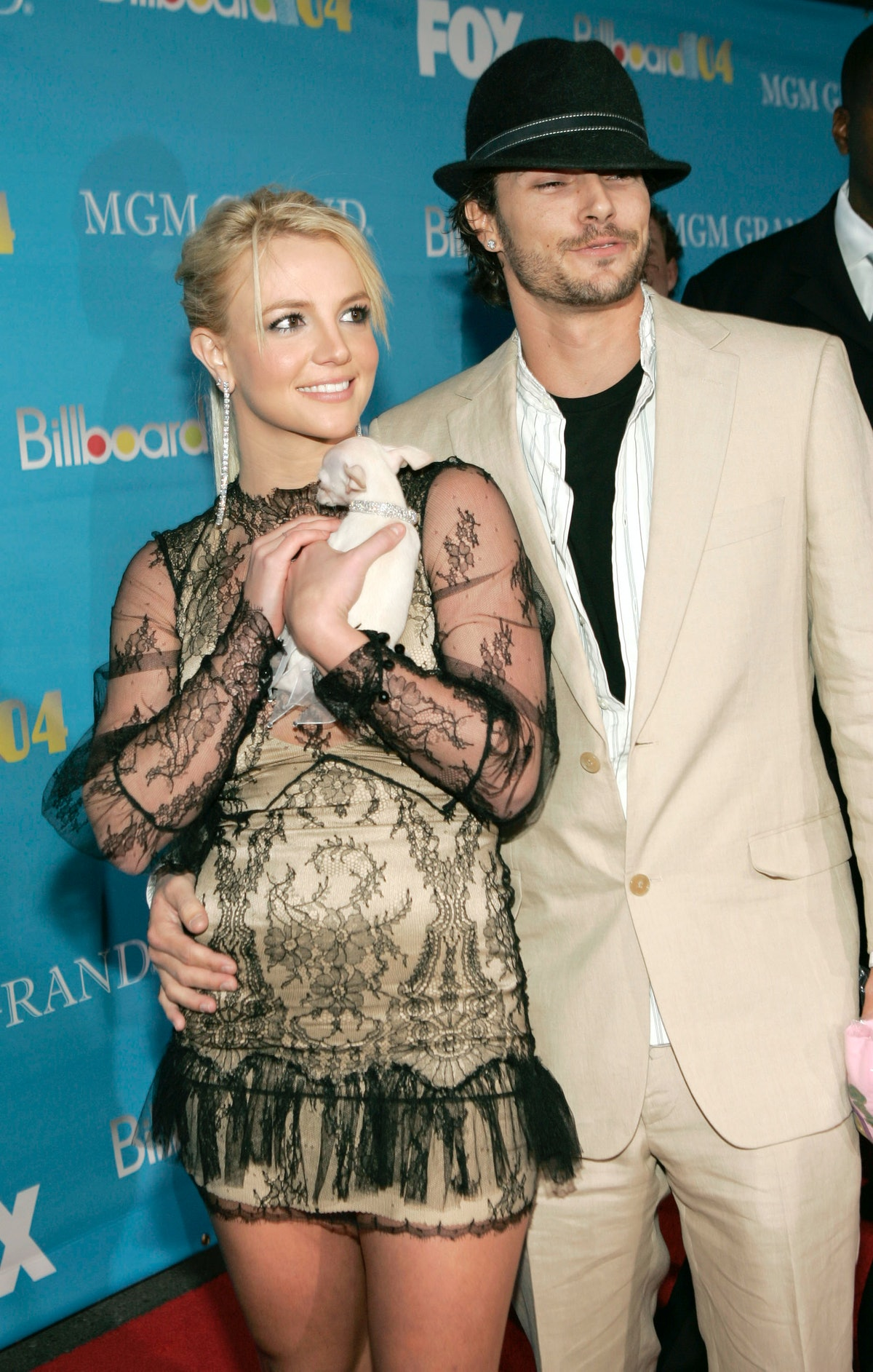 Britney Spears and Kevin Federline at the MGM Grand Garden in Las Vegas, Nevada (Photo by Kevin Mazu...