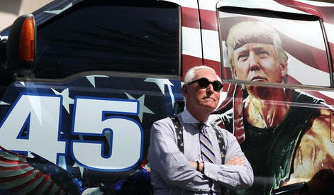 ORLANDO, FLORIDA - FEBRUARY 27: Roger Stone arrives for the Conservative Political Action Conference...