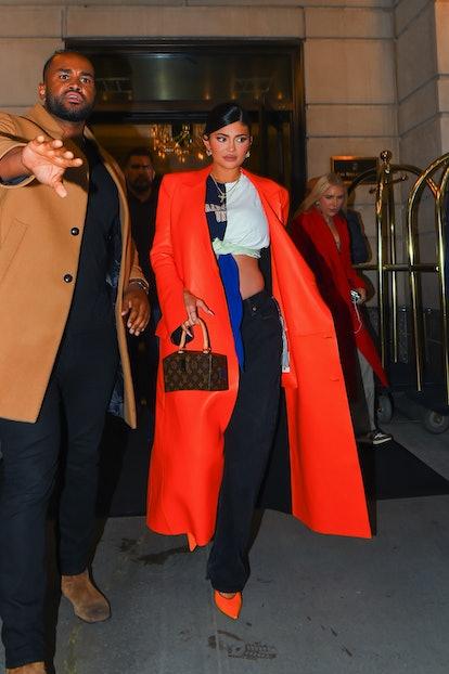 NEW YORK, NEW YORK - SEPTEMBER 09: Kylie Jenner is seen in Manhattan on September 09, 2021 in New Yo...