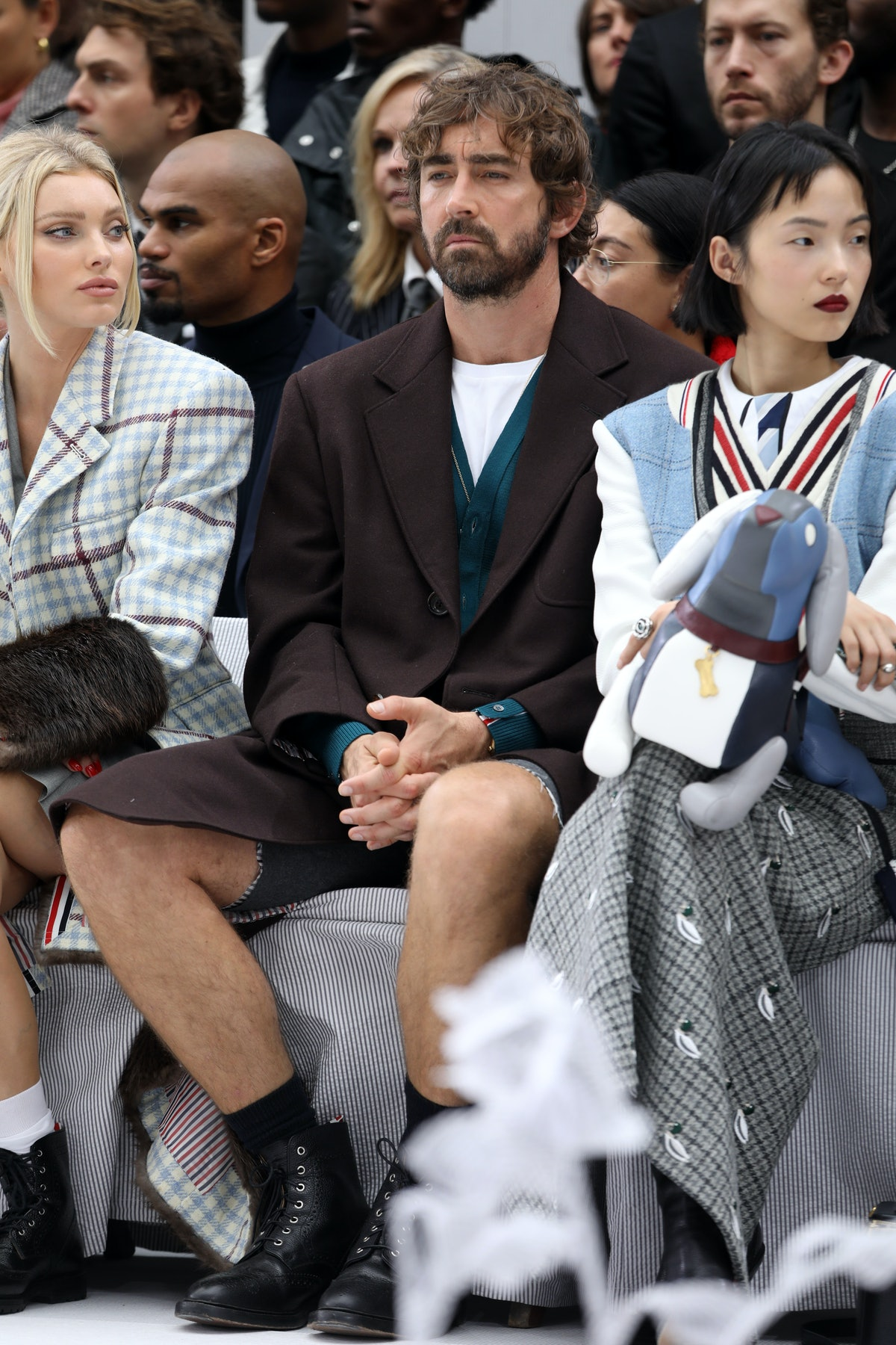 PARIS, FRANCE - SEPTEMBER 29: Lee Pace attends the Thom Browne Womenswear Spring/Summer 2020 show as...
