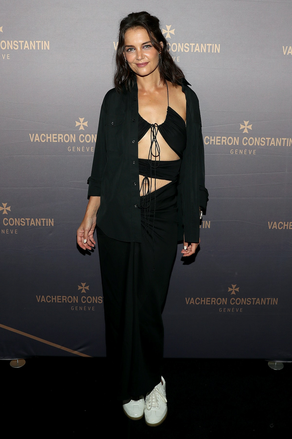 Katie Holmes attends the Vacheron Constantin Flagship Grand Opening in New York City in September 20...