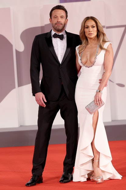VENICE, ITALY - SEPTEMBER 10: Jennifer Lopez and US actor Ben Affleck attends the red carpet of the ...