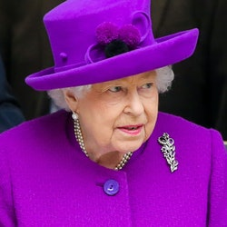 LONDON, UNITED KINGDOM - FEBRUARY 19: Queen Elizabeth II departs after officially opening of the new...