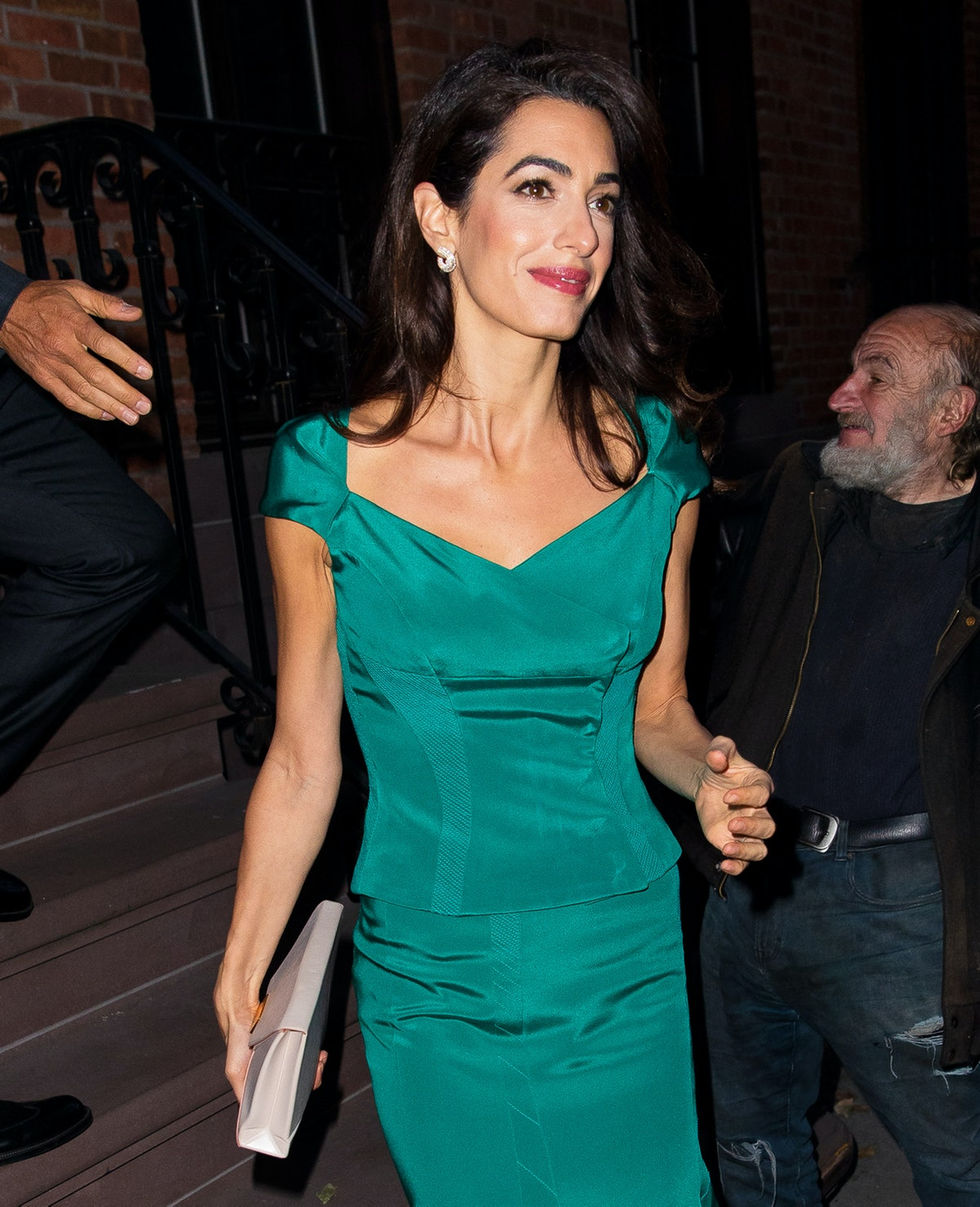 NEW YORK, NEW YORK - OCTOBER 01: Amal Clooney seen on October 01, 2019 in New York City. (Photo by J...