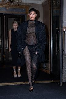 NEW YORK, NEW YORK - SEPTEMBER 09: Kylie Jenner is seen in Midtown on September 09, 2021 in New York...
