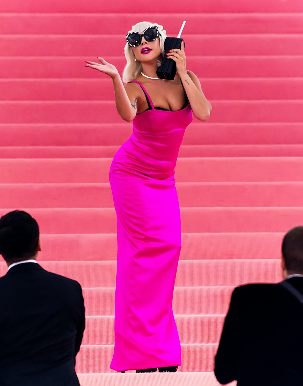 NEW YORK, NY - MAY 06:  Singer-songwriter and actress Lady Gaga is seen arriving to the 2019 Met Gal...