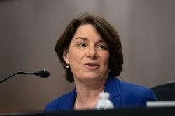 WASHINGTON, DC - SEPTEMBER 30: Sen. Amy Klobuchar (D-MN), speaks during a hearing on Wednesday, Sept...