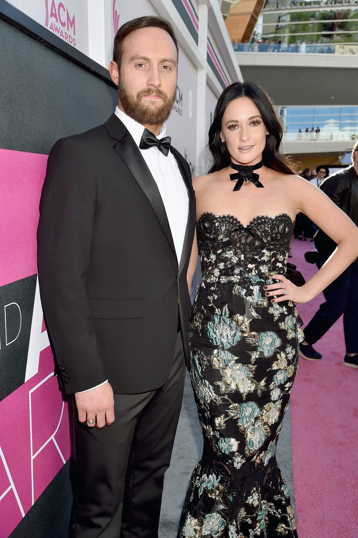 LAS VEGAS, NV - APRIL 02:  Singers Ruston Kelly (L) and Kacey Musgraves attend the 52nd Academy Of C...