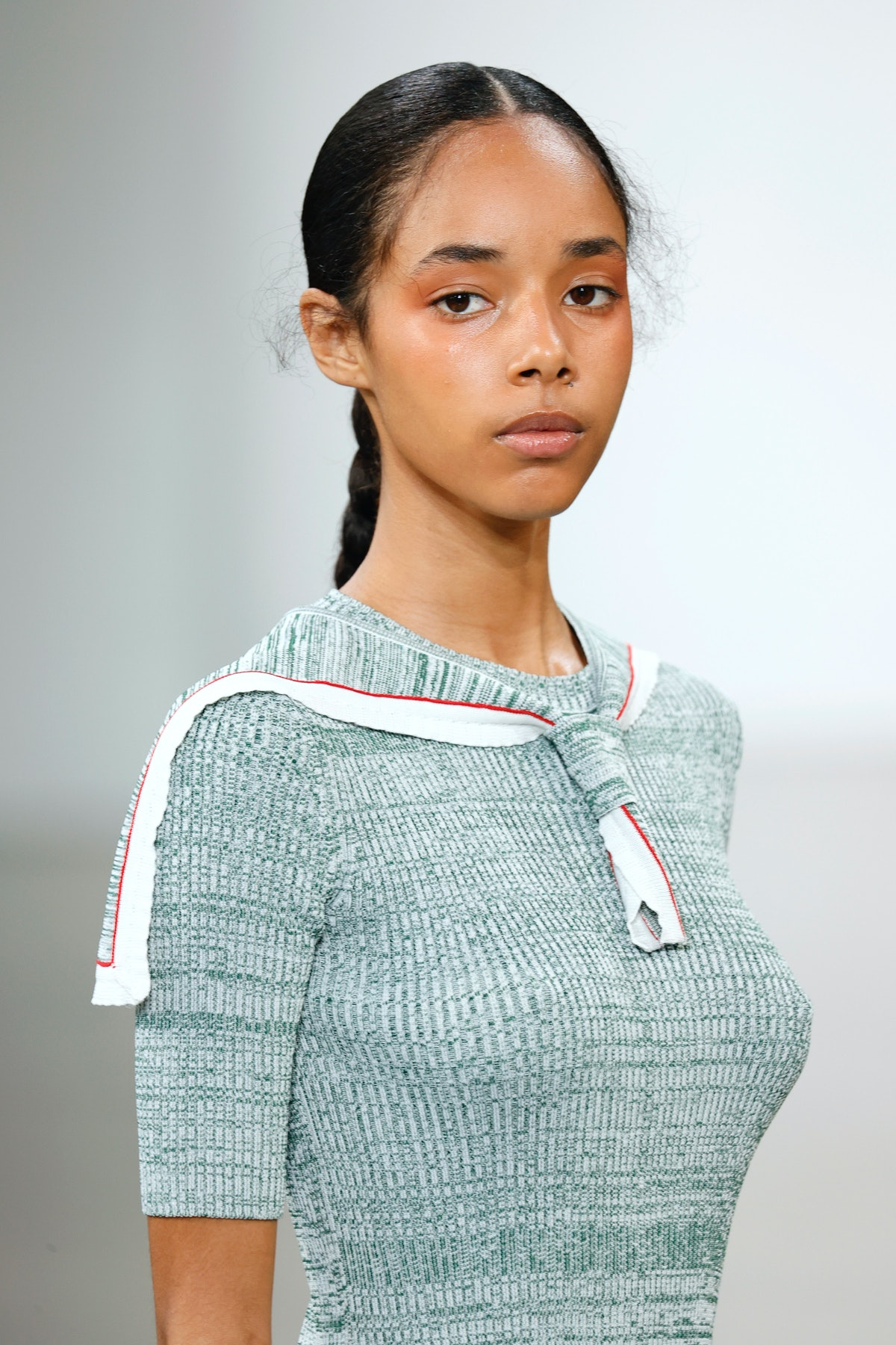 NEW YORK, NEW YORK - SEPTEMBER 09: A model walks the runway for Bevza during NYFW: The Shows at Gall...