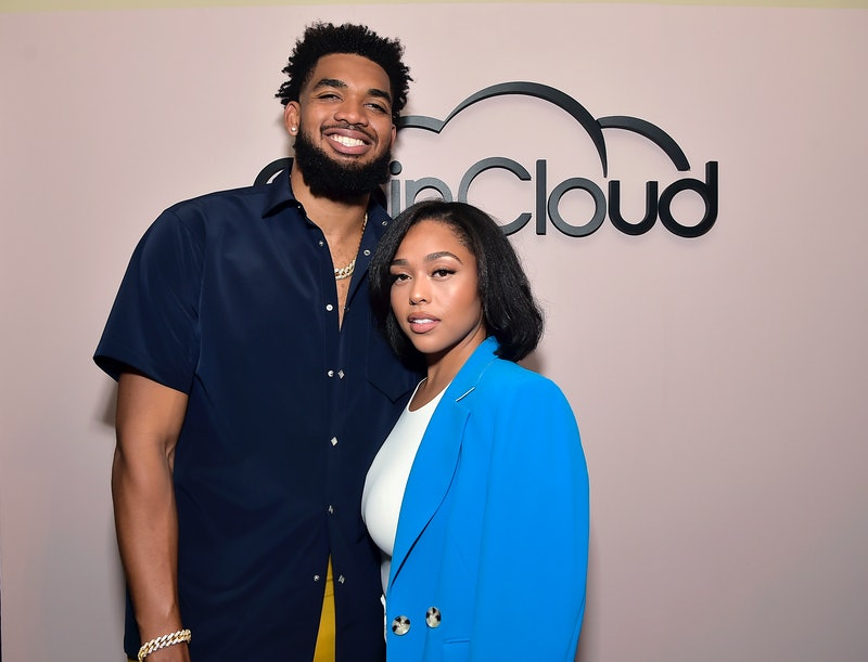 LOS ANGELES, CALIFORNIA - JUNE 15: (L-R) Karl-Anthony Towns and Jordyn Woods attend the Coin Cloud C...