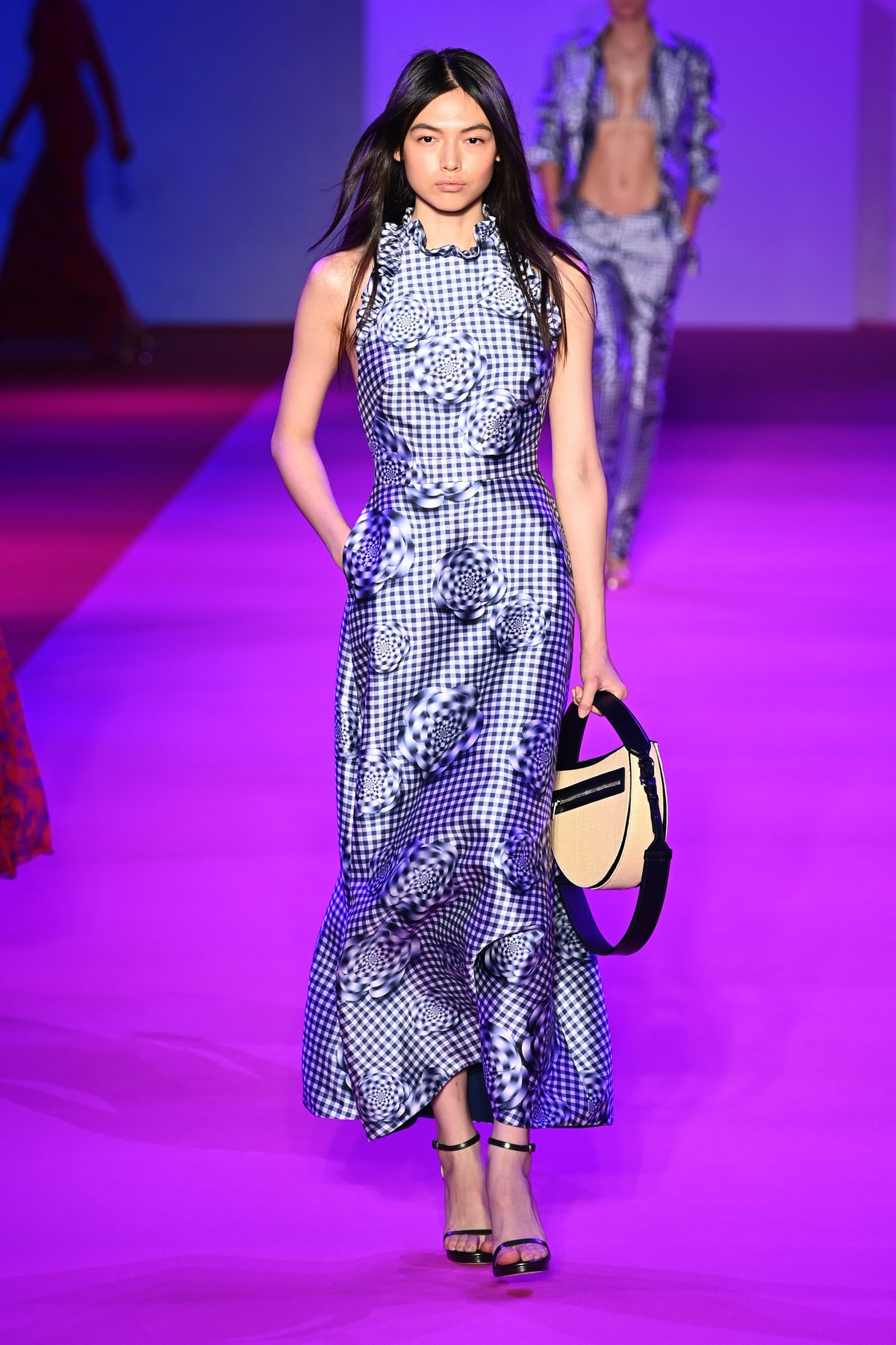 NEW YORK, NEW YORK - SEPTEMBER 10: A model walks the runway for Brandon Maxwell during NYFW: The Sho...