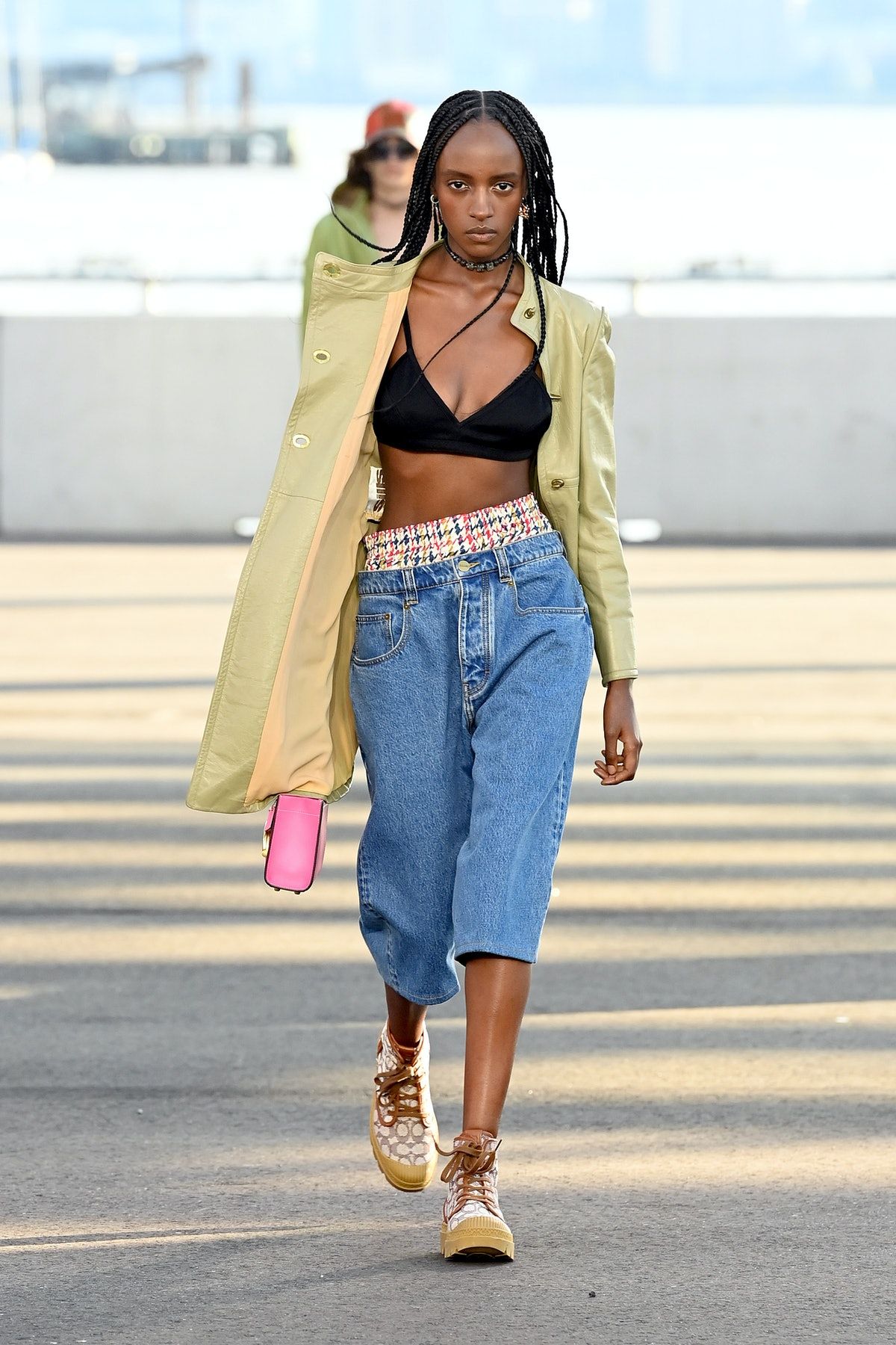NEW YORK, NEW YORK - SEPTEMBER 10: A model walks the runway for Coach during NYFW: The Shows on Sept...
