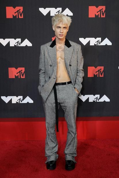 NEW YORK, NEW YORK - SEPTEMBER 12: Jaden Hossler attends the 2021 MTV Video Music Awards at Barclays...