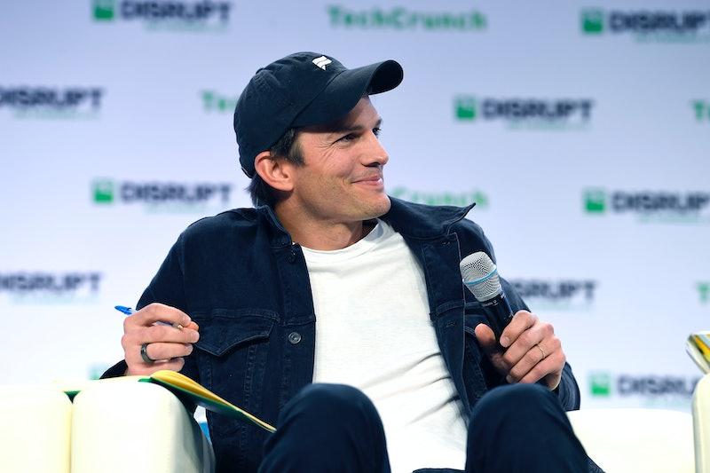 SAN FRANCISCO, CALIFORNIA - OCTOBER 04: Sound Ventures Co-Founder Ashton Kutcher speaks onstage duri...
