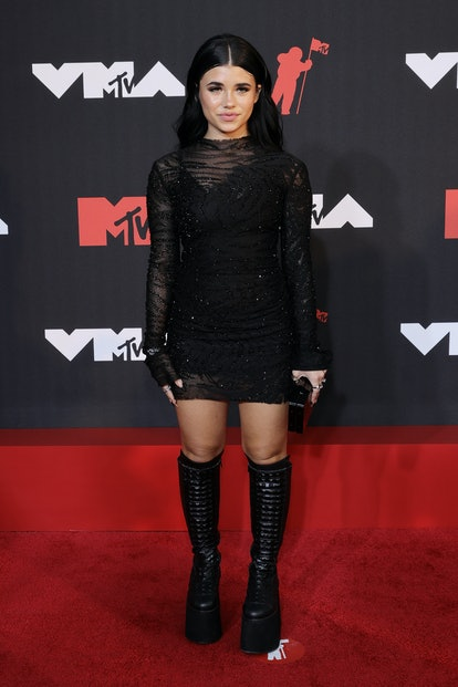 NEW YORK, NEW YORK - SEPTEMBER 12: Nessa Barrett attends the 2021 MTV Video Music Awards at Barclays...