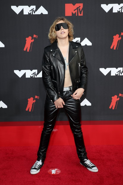 NEW YORK, NEW YORK - SEPTEMBER 12: The Kid LAROI attends the 2021 MTV Video Music Awards at Barclays...