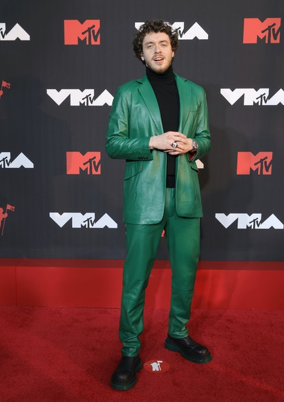 NEW YORK, NEW YORK - SEPTEMBER 12: Jack Harlow attends the 2021 MTV Video Music Awards at Barclays C...