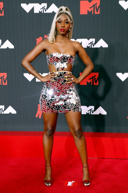 NEW YORK, NEW YORK - SEPTEMBER 12: Flo Milli attends the 2021 MTV Video Music Awards at Barclays Cen...
