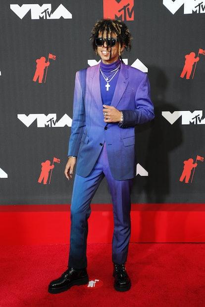 NEW YORK, NEW YORK - SEPTEMBER 12: Iann Dior attends the 2021 MTV Video Music Awards at Barclays Cen...