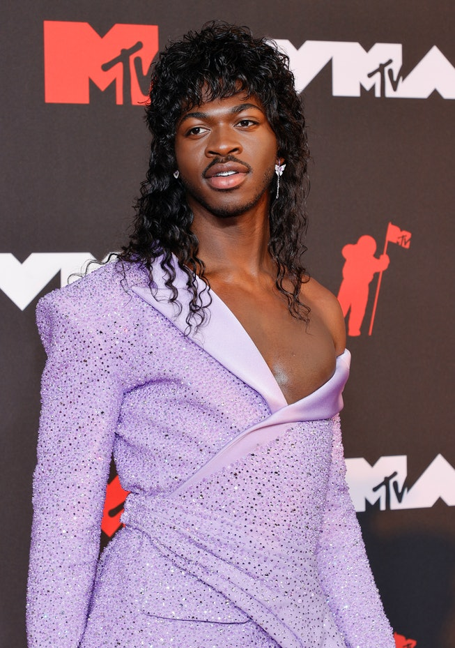 NEW YORK, NEW YORK - SEPTEMBER 12: Lil Nas X attends the 2021 MTV Video Music Awards at Barclays Cen...