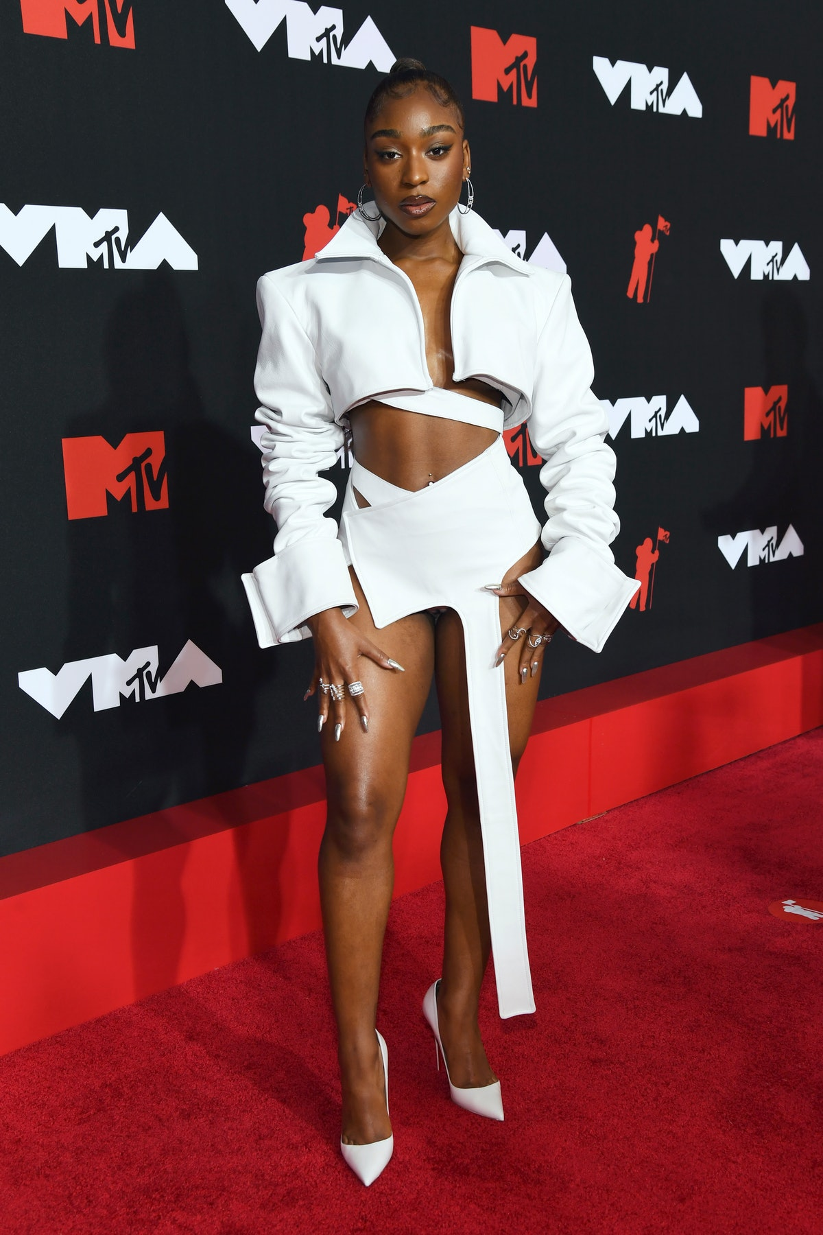 NEW YORK, NEW YORK - SEPTEMBER 12: Normani attends the 2021 MTV Video Music Awards at Barclays Cente...