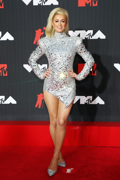 NEW YORK, NEW YORK - SEPTEMBER 12: Paris Hilton attends the 2021 MTV Video Music Awards at Barclays ...
