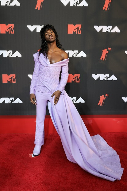 Lil Nas X's VMAs 2021 red carpet look quickly caught the attention of many, including some fans who ...