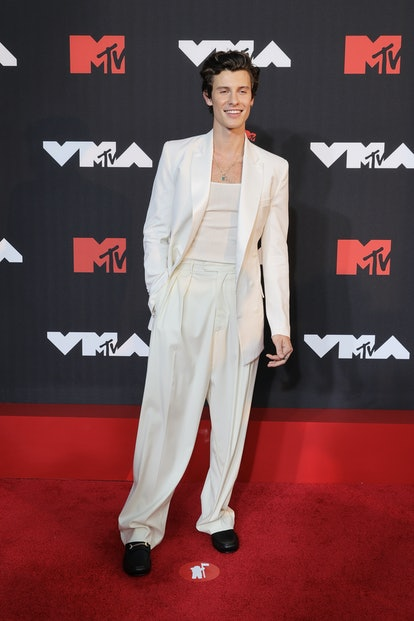 NEW YORK, NEW YORK - SEPTEMBER 12: Shawn Mendes attends the 2021 MTV Video Music Awards at Barclays ...