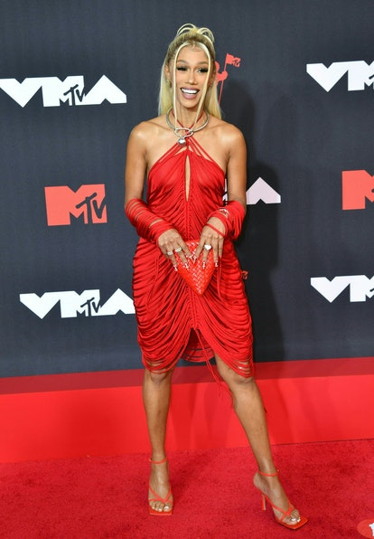 Singer and rapper Bia arrives for the 2021 MTV Video Music Awards at Barclays Center in Brooklyn, Ne...