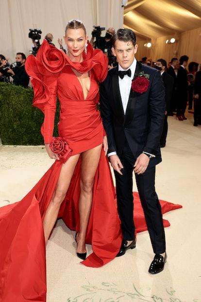 NEW YORK, NEW YORK - SEPTEMBER 13: Karlie Kloss and Wes Gordon attend The 2021 Met Gala Celebrating ...